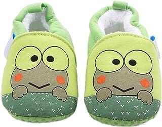 CHD ビーシューズ 虫シューズ ファーストシューズ ビー 子供 靴 赤ちゃん 滑め防ぐ靴 室内履き ルームシューズ ソフトソール 出産お祝いプレゼントにも (11cm, カエル 起毛)