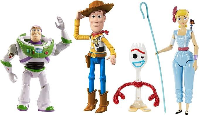 Toy Story 4 FLIXSTARS Pack of 18 Buzz Lightyear Woody Rex Little Bo Peep Mattel