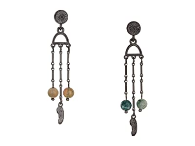 Alex and Ani Cosmic Balance Chandelier Earrings (Midnight Silver) Earring