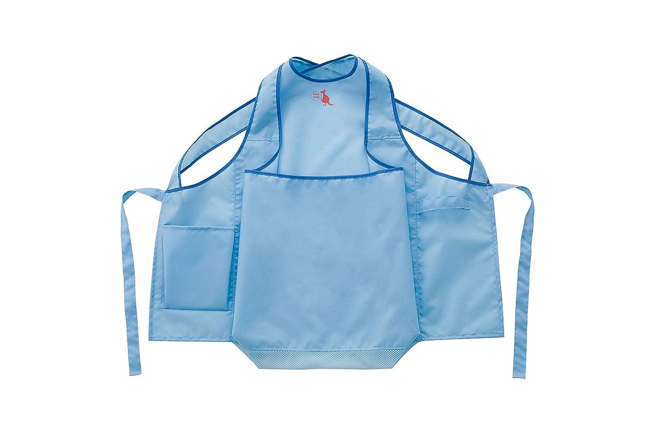 ナイロンモザイクエージェントカンガルーランドリーエプロン お腹のポケットから洗濯物を取り出せる
