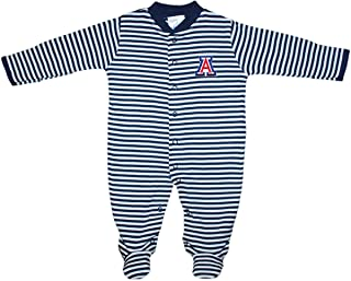 University of Arizona Wildcats Striped Footed Baby Romper