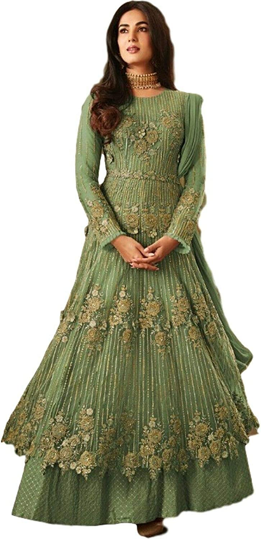 Indian Pakistani Ethnic wear Net Fashion Anarkali Salwar Kameez Party Wear Ramzan Suit for Women