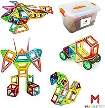 Bloques magnéticos para niños|Juego de 142 Piezas | Juguete de construcción de imán para niños de Magnitect
