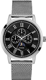 Guess Men's Multi Dial Quartz Watch Delancy, Silver/Black, Large, Strap
