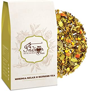 The Indian Chai Moringa Relax & Refresh Tea With Chamomile & Peppermint, 3.53oz