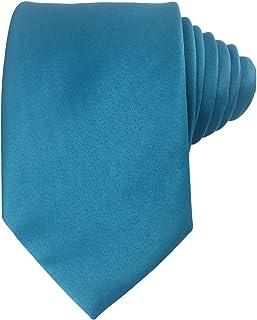 Mens Solid Plain Silk Tie Black Wedding Business Formal Necktie