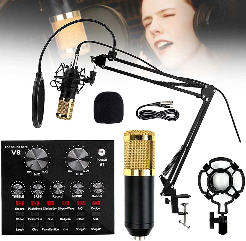 AWJ Microphone Kit Mesa Mall BM-800 Under blast sales Condenser Live Bundle with