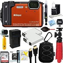 Nikon COOLPIX W300 16MP 4k Ultra HD Waterproof Digital Camera (Orange) + 32GB Memory & Deluxe Accessory Bundle