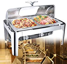 XBSXP Chafing Dish 13L, Chafing Dish, serveurs et Chauffe-buffets en Acier Inoxydable, Chauffe-Plats électrique pour Banqu...