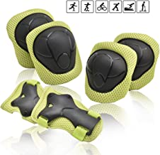 Kids/Youth Knee Pad Elbow Pads Guards Wrist Guards Protective Gear Set for Rollerblade Roller Skates Cycling BMX Bike Skateboard Inline Skating Scooter Riding,Toddler for Multi-Sports Outdoor Age3-7