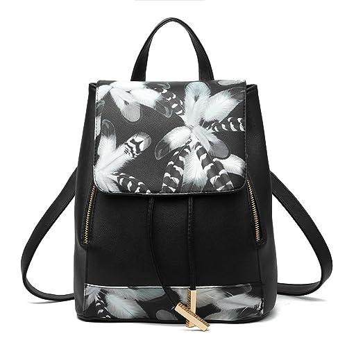 Z-joyee Casual Purse Fashion School Leather Backpack Shoulder Bag Mini  Backpack for Women   a2a2f86ed06b0