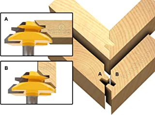 Yonico 15127 45 Degree – Up to 3/4-Inch Stock Lock Miter Router Bit 1/2-Inch Shank