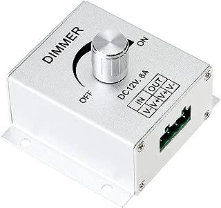 SUPERNIGHT Aluminium Case DC12V 8A Single Channel Knob Dimmer Controller For LED strip Bulb Lamp Light 5050 3528 5630 single color LED Strip