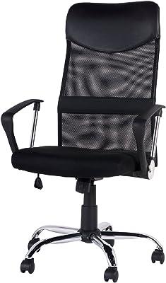 (OSJ)メッシュオフィスチェア メッシュチェア オフィスチェア OAチェア 上下左右可動式 ハイバック (ブラック)(MY)