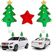 URATOT Holiday Car Reindeer Antlers Christmas Car Decorations Car Christmas Tree Reindeer Antlers Nose Holiday Car Window ...