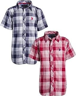 Boys Short Sleeve Woven Shirt (2 Pack)