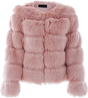 9accc8978a Simplee Women Luxury Winter Warm Fluffy Faux Fur Short Coat Jacket Parka  Outwear