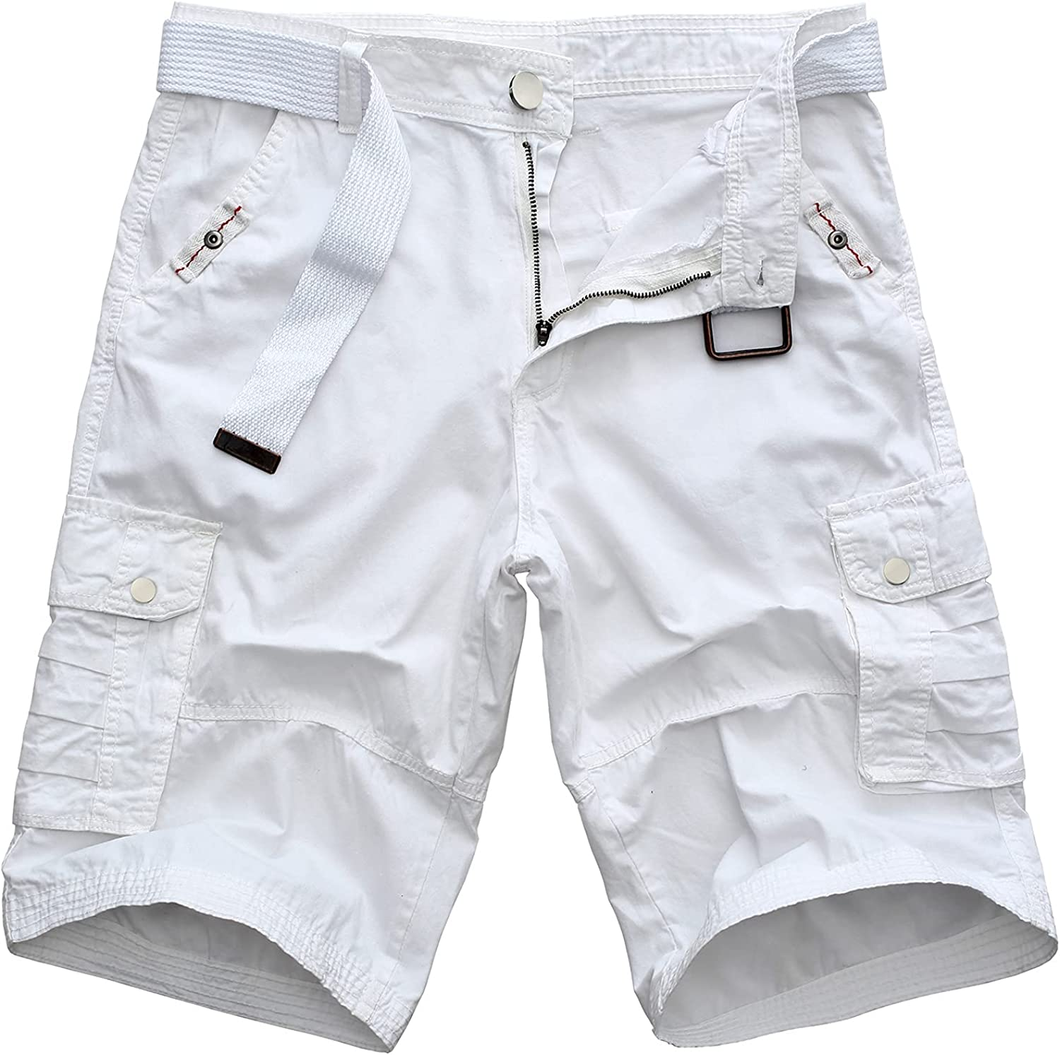 WearLink Men's Casual Deluxe Cargo Shorts Sum Relaxed Over item handling ☆ Fit Multi Pockets