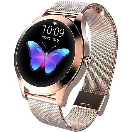 FEI JI Inteligente Reloj KW10, Ronda Pantalla táctil IP68 a Prueba de Agua for la Mujer SmartWatch, rastreador de Ejercicios con el Ritmo cardíaco y el sueño podómetro, Pulsera for iOS/Android
