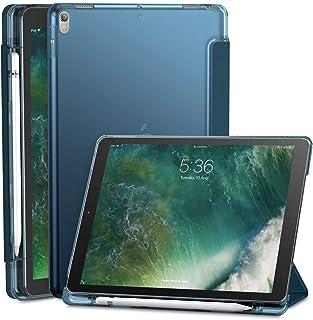 INFILAND Funda para iPad Air 3 10,5 (3ª Generación 2019)/iPad Pro 10,5 2017,Smart Translúcido Case Cascara con portaplumas y Auto Reposo/Activación Función,Azul Oscuro