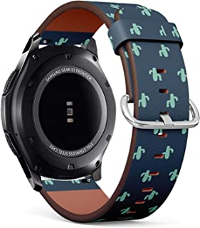 Compatible with Samsung Gear S3 Frontier/Classic - Leather Watch Wrist Band Strap Bracelet with Quick-Release Pins (Cute C...