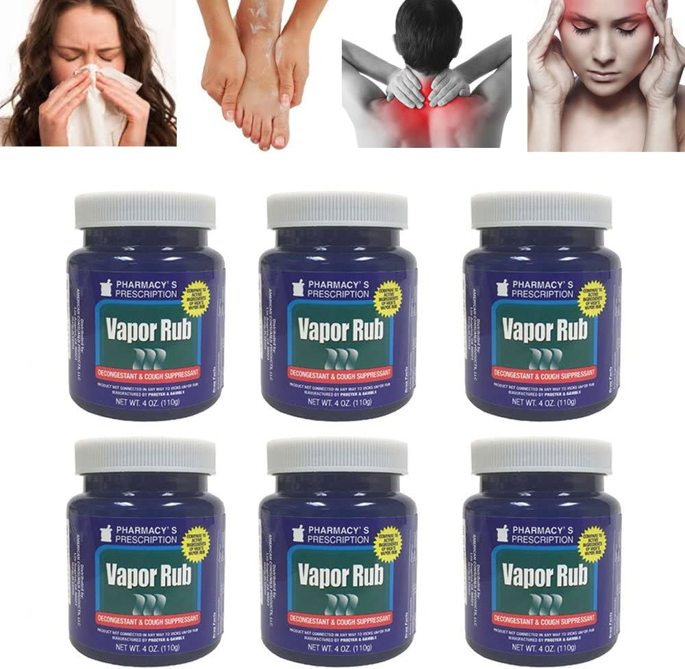 Cheap 6 Vapor Rub Soldering Cold Cough Chest Ointment Decongestant Topical Nasal