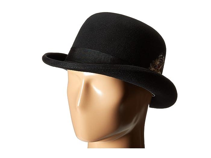 Stacy Adams  Wool Derby Hat (Black) Caps