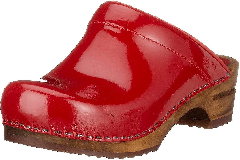 Damen Classic Patent Open Clogs, Clogs, Rot (rot 4), 39 EU  billig