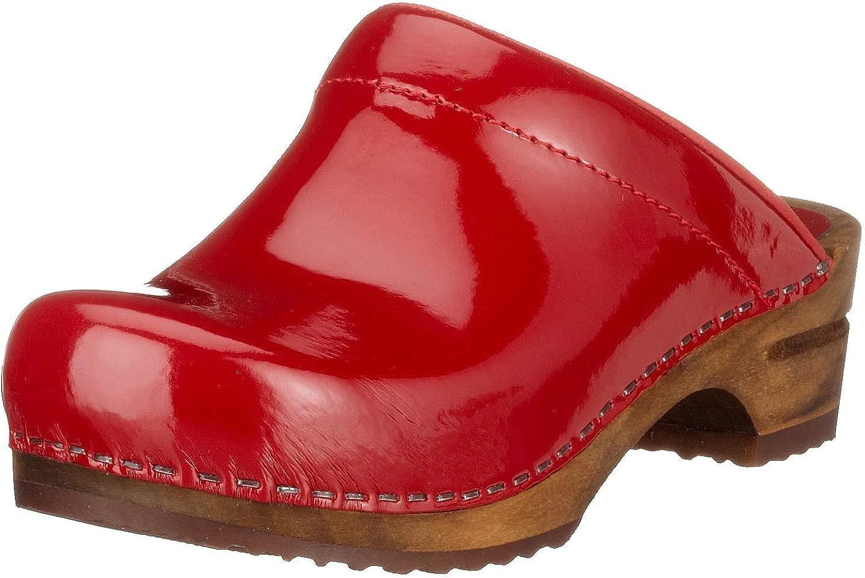 Damen Classic Patent Patent open Clogs, Rot (rot 4), 37 EU  100% authentisch