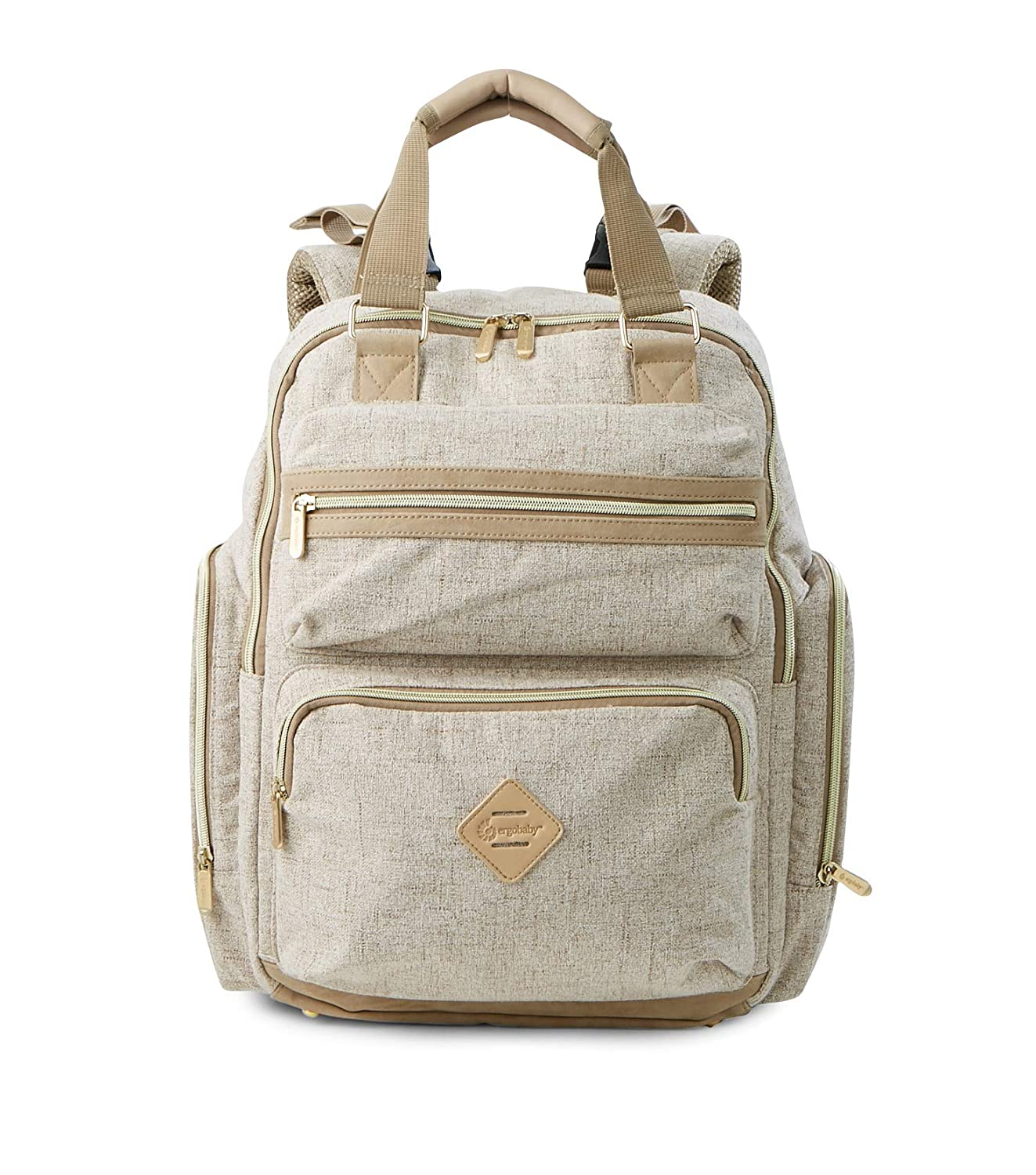 Ergobaby Out for Adventure Back Pack Diaper Bag, Linen