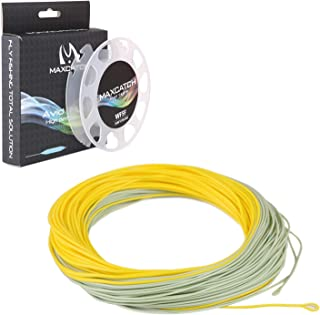 M MAXIMUMCATCH Maxcatch Avid Fly Line with Welded Loop, Weight Forward Floating Fly Fishing Line 100ft (3F/4F/5F/6F/7F/8F)