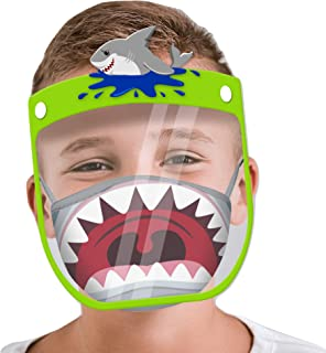 Kids Face Shield with Matching Little Boys Reusable...