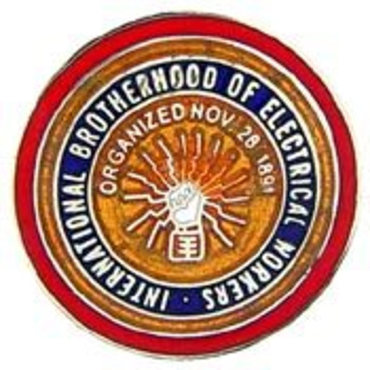 EagleEmblems P05341 PIN-ORG,Electrical Worker (1'')