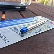 #00 Parker S0909580 Ersatzmine QuinkFlow Kugelschreiber, mittlere Strichbreite