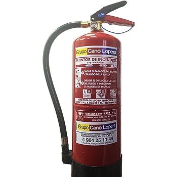 Grupo Cano Lopera | Extintor Universal Polvo Seco ABC con Capacidad de 6 Kg | Homologado