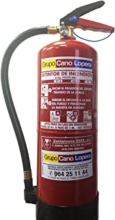 Grupo Cano Lopera | Extintor Universal Polvo Seco ABC con Capacidad de 6 Kg | Homologado | Eficacia 27A 183B | Útil para Casa - Caravana - Oficina - Restaurante | Incluye soporte para Pared