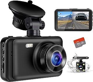 【2020最新版・超暗視型ドラレコ】 ドライブレコーダー 前後カメラ Sony IMX294センサー 32GB SDカード付き 170度広角 360度回転 駐車監視 常時録画 暗視機能 動体検知 上書き録画 G-sensor HDR/WDR技術...