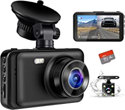 "$43 » Dash Camera for Cars, YOCHOS 1080P Front and Rear Dual Dash Cam, 3"" LCD Screen 170° Wide Angle Dash Cam with Night Vision WDR G-Sensor Parking Monitor Loop Recording Motion Detection.(SD Card Include)"