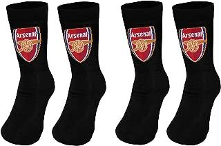 Arsenal Football Club Official Soccer Gift 2 Pair Pack Kids Boys Socks