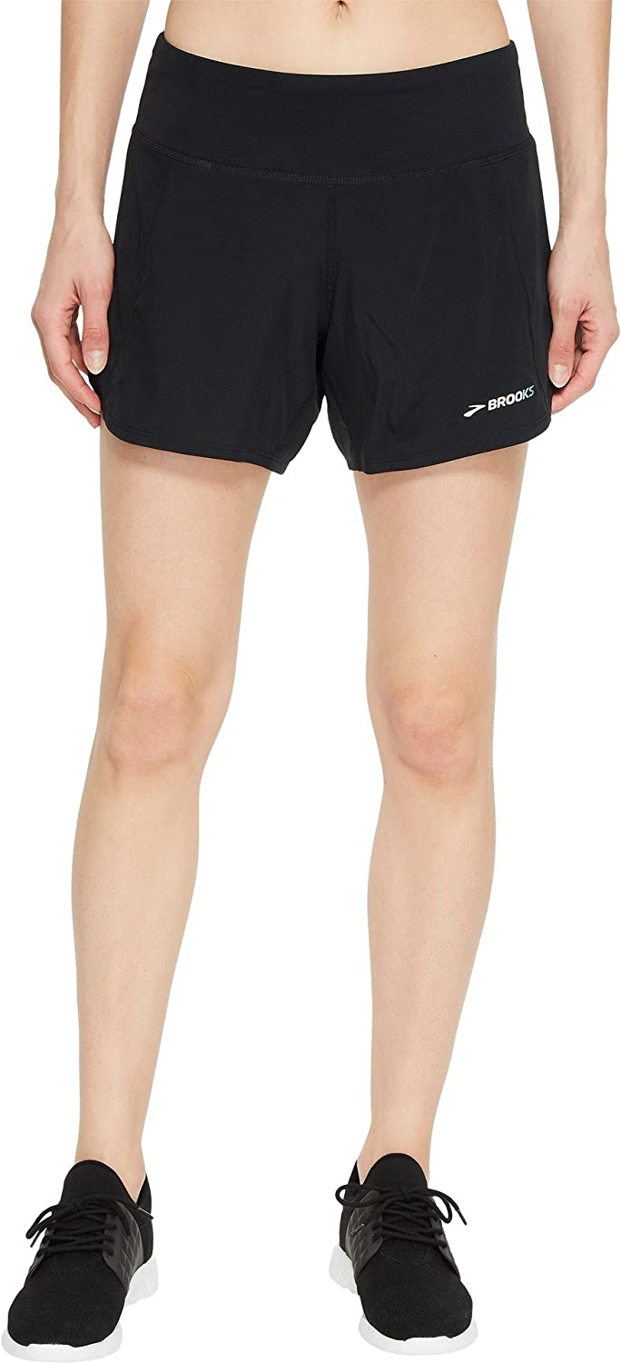 Brooks Women's Chaser 5  Shorts (Small 5, Black 1)