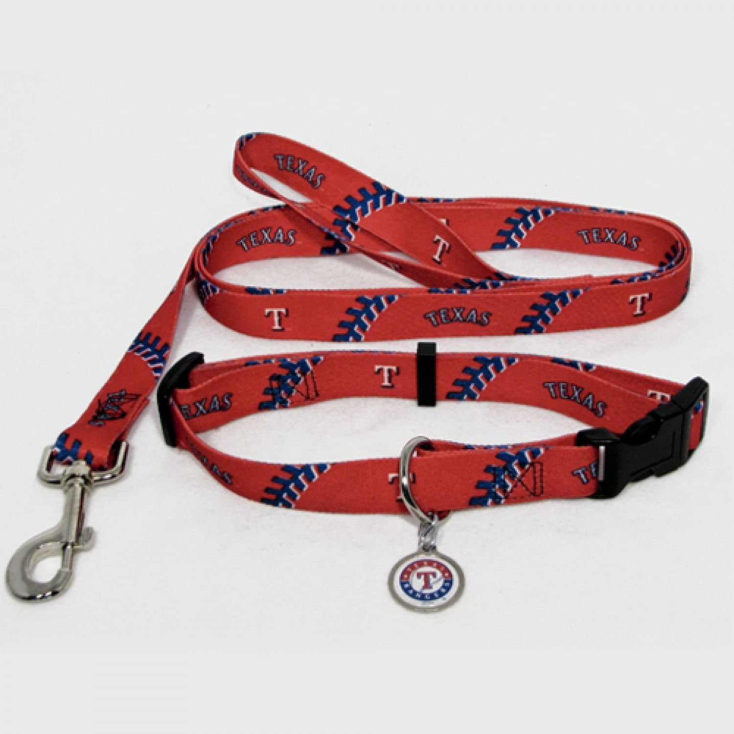 HUNTER Texas Rangers Collar Lead free and Tag Set Pets ID for Charlotte Mall Combo