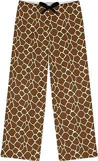 RNK Shops Giraffe Print Womens Pajama Pants - S (Personalized) Brown