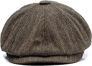 KeepSa Newsboy cap Coppola Uomo - Berretto a 8 Spicchi Piatto Berretto Lana Uomo 56-63 cm - Peaky Irish Gatsby Wool Felt I...