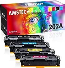 Amstech Compatible Toner Cartridge Replacement for HP M281fdw HP 202A CF500A CF501A CF502A CF503A 202X Toner for HP M281cdw M254dw HP Color Laserjet Pro MFP M281fdw M254dw M281cdw M281 Toner (4 Packs)