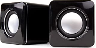 DURAGADGET Altavoces Compactos para Monitor ASUS VX229H, VX239H, VX239W / Benq GL2460HM, GW2470HM, Zowie XL2411 - Tamaño Mini - Conexión Mini Jack + USB