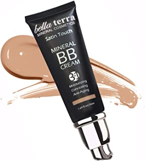 BB Cream Matte finish 3-in-1 Mineral Makeup Foundation - Tinted Moisturizer - Concealer - Satin touch - Light to Dark Skin Tones - Natural SPF - Hypoallergenic (1.69 Oz) - Medium 104 by Bella Terra