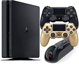 $529 » Sponsored Ad - Playstation 4 Slim 1TB Console with Black and Gold Wireless Controller and Mytrix DS4 Fast Charging Dock