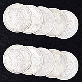 10 Pcs Steel Morgan Dollar ( 3.8cm Dia) Magic Tricks Can Be Sucked Props Accessories Used Appearing/Disappearing Coin Magie Props