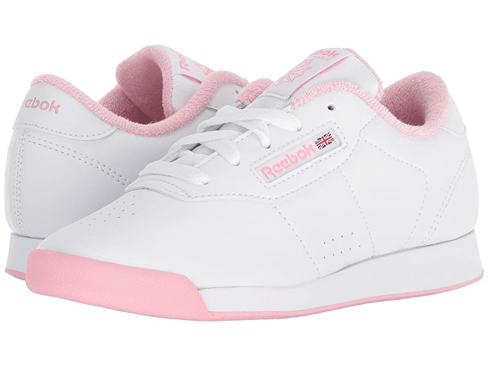Reebok Kids Princess (Little Kid) (White/Light Pink) Girls Shoes