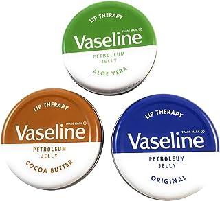 Vaseline Petroleum Jelly Lip Balms Tins - Aloe Vera, Cocoa Butter, Original, Lip Repair